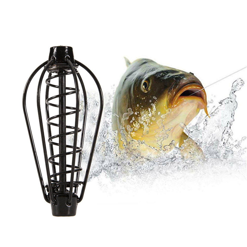2019 Fishing Feeder Bait Cage Case Fishing Inline Method Bait Feeder fishing tools Fishing Accessory Basket Feeder Holder #35917