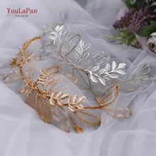 YouLaPan Bridal Head Band Designer Headbands Bridal Hair Accessories Wedding Headpieces Golden Bridal Tiaras and Crowns HP316 great gatsby daisy crystals pearl tassels silver wedding bridal pearl tiaras and crowns wedding party hair hoop headbands