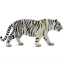 11CM PVC Realistic White Tiger Toys Animal Model Action Figures Figurines Educational Kids Toys Gifts Collections