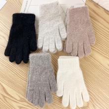 Damskie zimowe śliczne pluszowe ciepłe rękawiczki jeździeckie rękawiczki damskie damskie rękawiczki damskie zimowe rękawiczki zimowe rękawiczki tanie tanio Dla dorosłych Unisex COTTON Stałe Nadgarstek Moda
