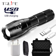 2017 USB Flashlight 8000 Lumens X900 LED CREE XM-L2 T6 Tactical Torch Zoomable Powerful Light Lamp Lighting For Charger