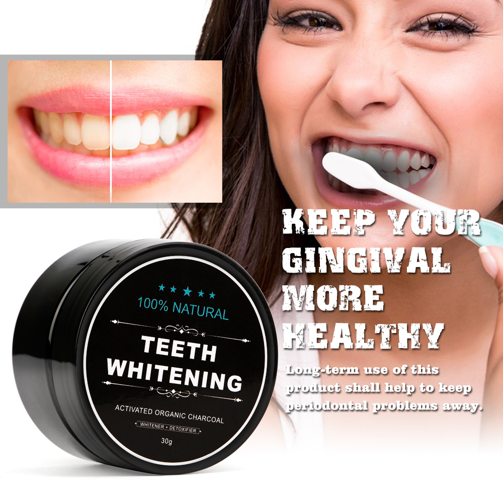 Mouth - Tooth Care Natural Activated Charcoal Teeth Whitening Powder Toothpaste Oral Hygiene Dental