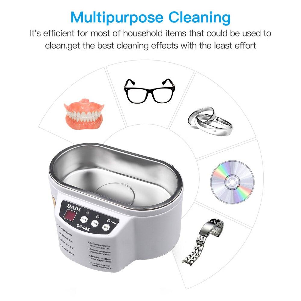 Mini nettoyeur sonique Ultra bijoux lunettes Circuit imprimé nettoyage Machine 600ml contrôle Intelligent sonique nettoyant bain goutte/navire
