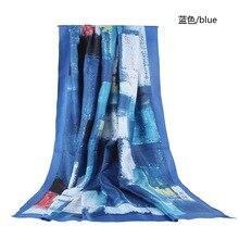 Модный винтажный Омбре узор хлопковый шарф 6 цветов 10 шт./лот