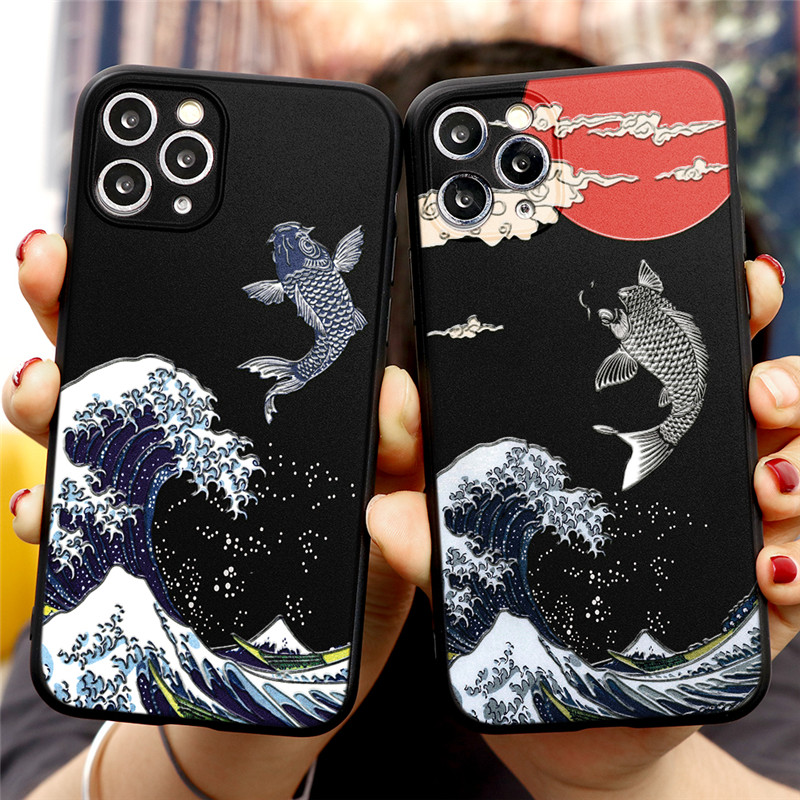 Luxury 3D Art Cartoon Emboss Relief TPU Cover Phone Case For iPhone 12 Pro Max