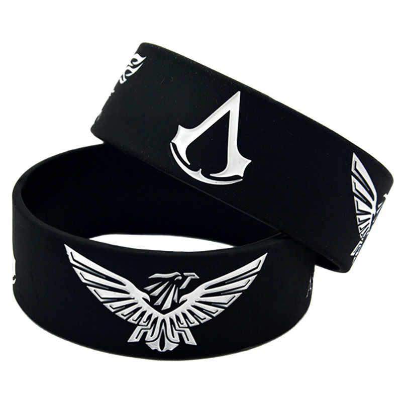 Модный браслет Assassins creed из ПВХ, превосходное качество, браслет с аниме, ювелирные изделия, милые подарки для фанатов игр
