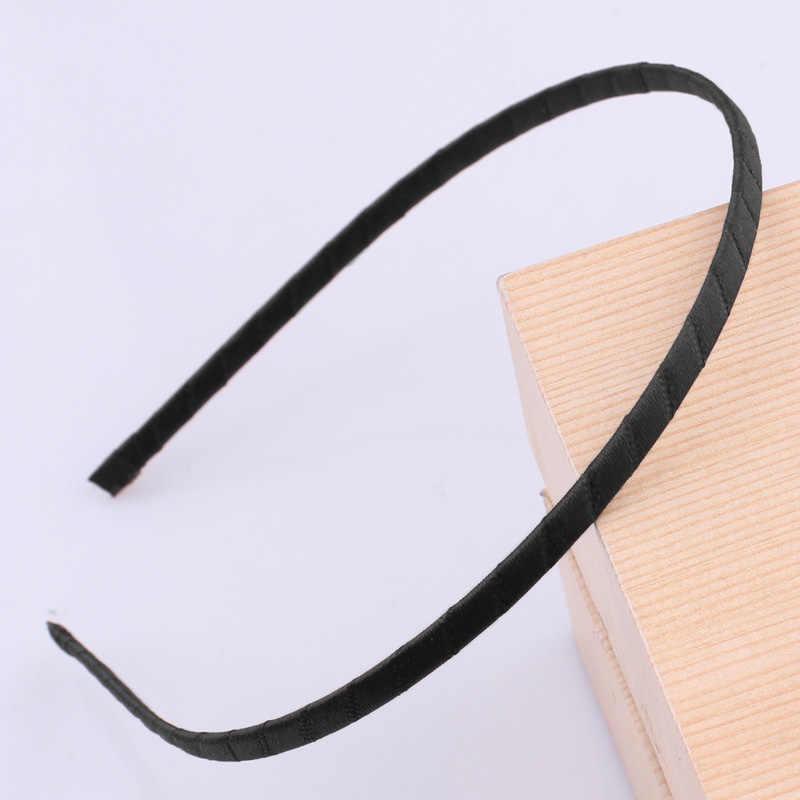 5 millimetri di Colore Raso Rivestito In Resina Hairbands Per I Bambini Solido Delle Ragazze di Raso Fascia Dei Capelli FAI DA TE Della Fascia di Raso Testa Cerchio Dei Capelli accessori