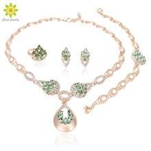 Свадебный комплект ювелирных изделий из кристаллов ожерелье