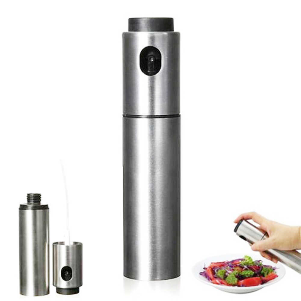 100 مللي زجاجة زيت خل من الفولاذ المقاوم للصدأ موزع بخاخ أداة مطبخ للطبخ مختومة بدون تسريب لوضع نكهة المنظفات في