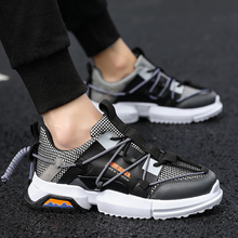 The Latest Fashion Increase In 2019 Breathable Lace-Up Mesh Running Shoes Outdoor Leisure Rubber Sole Mens Sports J