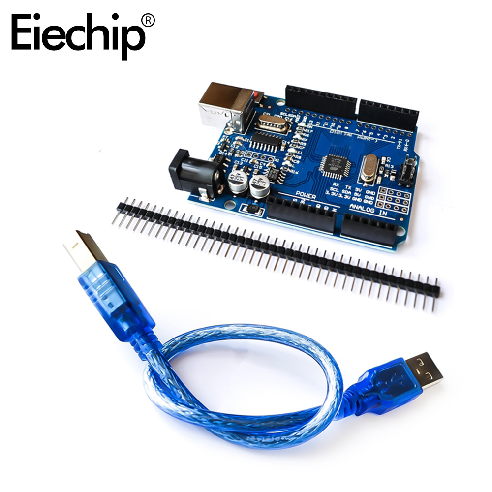 For Arduino UNO R3 MEGA328 CH340 For UNO R3 Compatible With Usb Cable Atmega328P-AU Development Board Diy Electronic Starter Kit