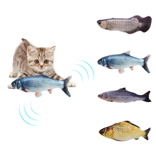 30CM Electronic Pet Cat Toy Electric USB Charging Simulation Fish Toys for Dog Chewing Playing Biting Supplies Dropshiping h
