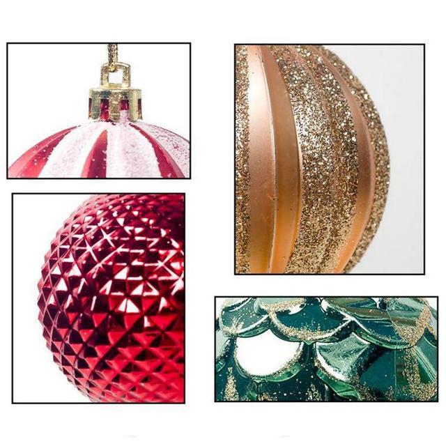12 sztuk boże narodzenie piłka 6cm bombki choinkowe wystrój bombka bożonarodzeniowa Party wiszące ozdoby dla domu boże narodzenie boże narodzenie Decora prezenty