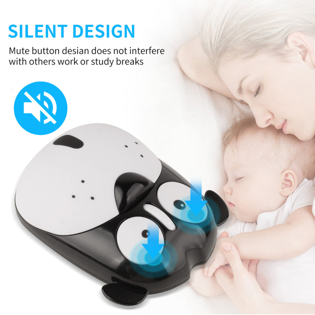 1pc Newest Power Saving Mute Rechargeable Wireless Mouse Cute Animal Puppy Mouse 2.4G Wireless Mouse Rechargeable Mouse 5