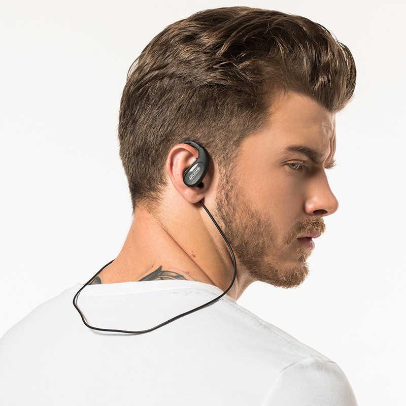 IPUDIS Sport zestaw słuchawkowy bluetooth IPX7 wodoodporny bezprzewodowy słuchawka Hi-Fi Stereo słuchawki z pałąkiem na kark słuchawki douszne 120mAh z mikrofonem