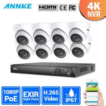 ANNKE 8CH 2MP Ultra HD POE Network Video Security System 8MP H.265 NVR With 8X 2MP 30m Night Vision Weatherproof IP CCTV Camera - Category 🛒 Security & Protection