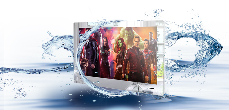 H864860c4cfbb41f6a3b3cf0fc5a9fccdU 21.5inch Airplay Cast Waterproof Bathroom LED TV  Inernet Mirror LED TV  Shower room LED Full HD 1080 Android Wi-Fi Glass Panel