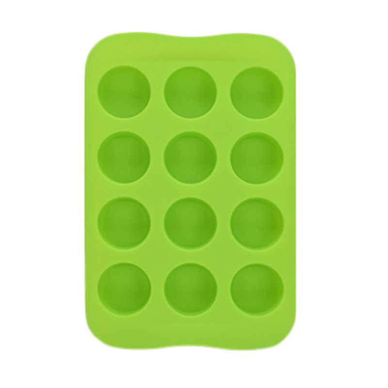 12 griglia Del Cioccolato Del Silicone Della Muffa Del Vassoio Creativo star/Cuore/Rotondo/Quadrato A Forma di Cubo di Ghiaccio Della Torta Strumento di Decorazione muffa