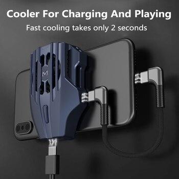 Radiador Semiconductor Universal de refrigeración para teléfono móvil, ventilador enfriador recargable USB, soporte de almohadilla de juego, radiador de soporte