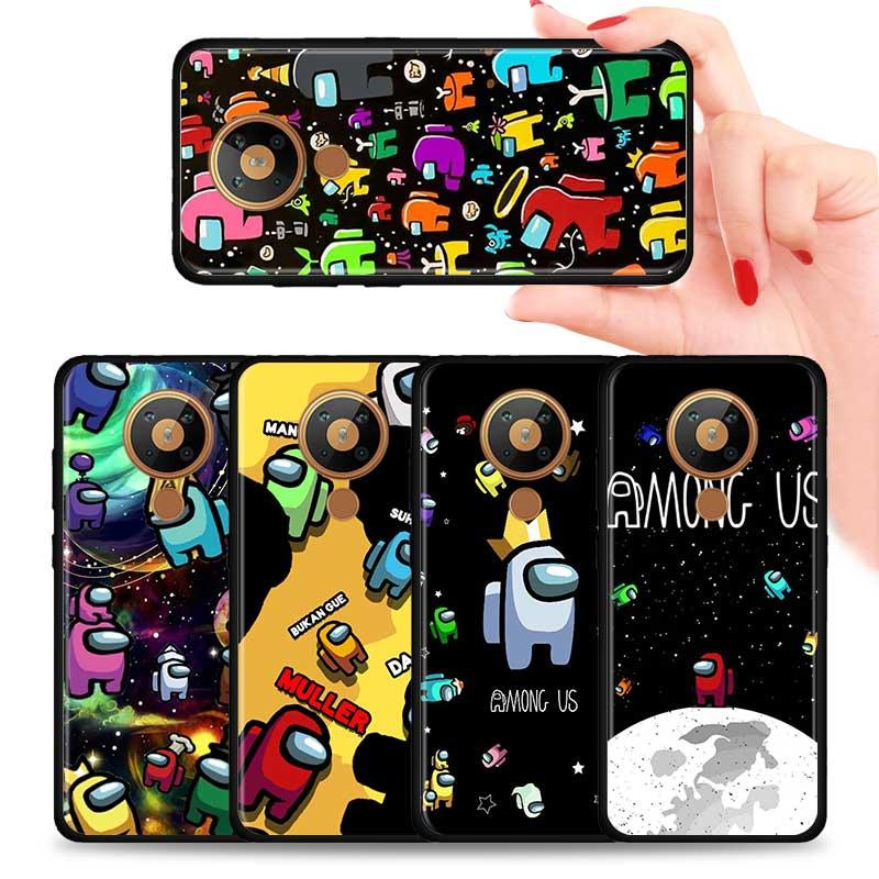 Silikon Telefon Fall Für Nokia 2,2 2,3 3,2 4,2 6,2 7,2 1,3 5,3 8,3 5G 2,4 3,4 C3 C5 c2 Zurück Abdeckung Coque Funda Unter Uns Gehäuse