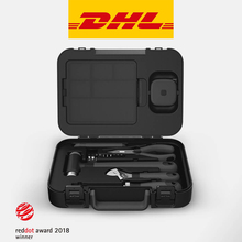 MIIIW 손 도구 세트 16Pcs DIY 세트 도구 가정용 손 도구 스크루 드라이버 렌치 해머 테이프 플라이어 나이프 도구 상자