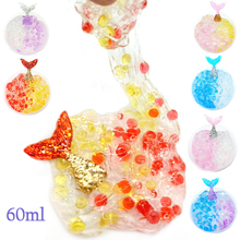 60ml Flat Bead Mud Slime Stamp Diy Color Supplies  Unicorn Beads Fluffy Kids Craft Projects