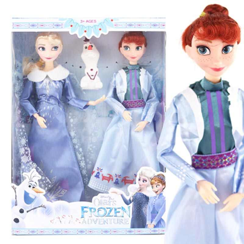 New Frozen 2 Elsa Anna Olaf Princess 30cm Figure Toys Model Dolls Present Gift For Kids Action Toy Figures Aliexpress