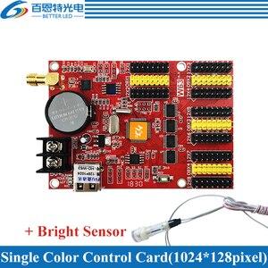 Image 2 - HD W63 USB+Wifi 8*HUB12 4*HUB08 Single color(1024*128 pixels) & Dual color(512*128 pixels) LED display control card
