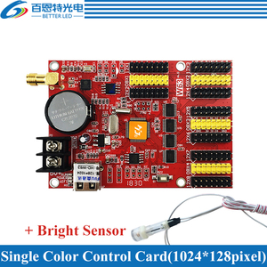 Image 2 - HD W63 usb + wifi 8 * hub12 4 * hub08 단색 (1024*128 픽셀) 및 듀얼 컬러 (512*128 픽셀) led 디스플레이 제어 카드