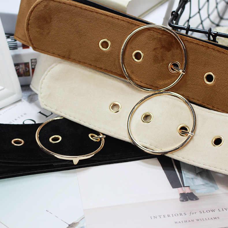 חדש עיצוב רחב נשי חגורת שמלת חגורות לקשט חגורת אופנה מוצק פשוט אבזם קטיפה חגורת מסיבת עבור ג 'ינס שמלת נשים