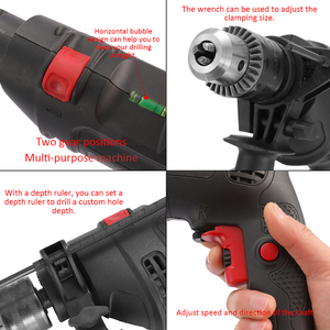 Image 4 - Adjustable Speed Electric Drill Impact Drill Electric Hammer Drill High Power 220V Dual use Positive Negative Rotation Tool