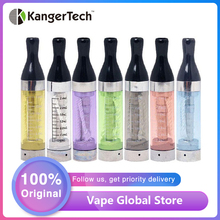 5 sztuk Kanger T2 EGo CC Clearomizer 2 4ml e-cig Atomizer dla eGo ego-t ego-c ego-c Twist eGo wątek 70mm długi knot zbiornik Vaping tanie tanio T2 (eGo Thread Atomizer) Wymienne 510 ego KangerTech Black Blue Green Pure Purple Red 1 8 + - 0 2ohm 5 pieces