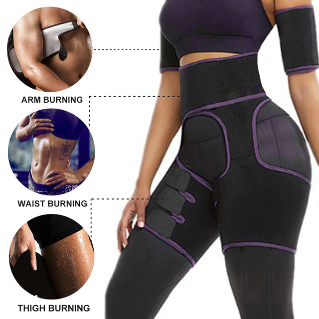 Tactical Waist Trainer 3-in-1 Thigh Trimmers with Butt Lifter Body Shaper Arm Belt For Waist Support Sport Workout Sweat Bands 2