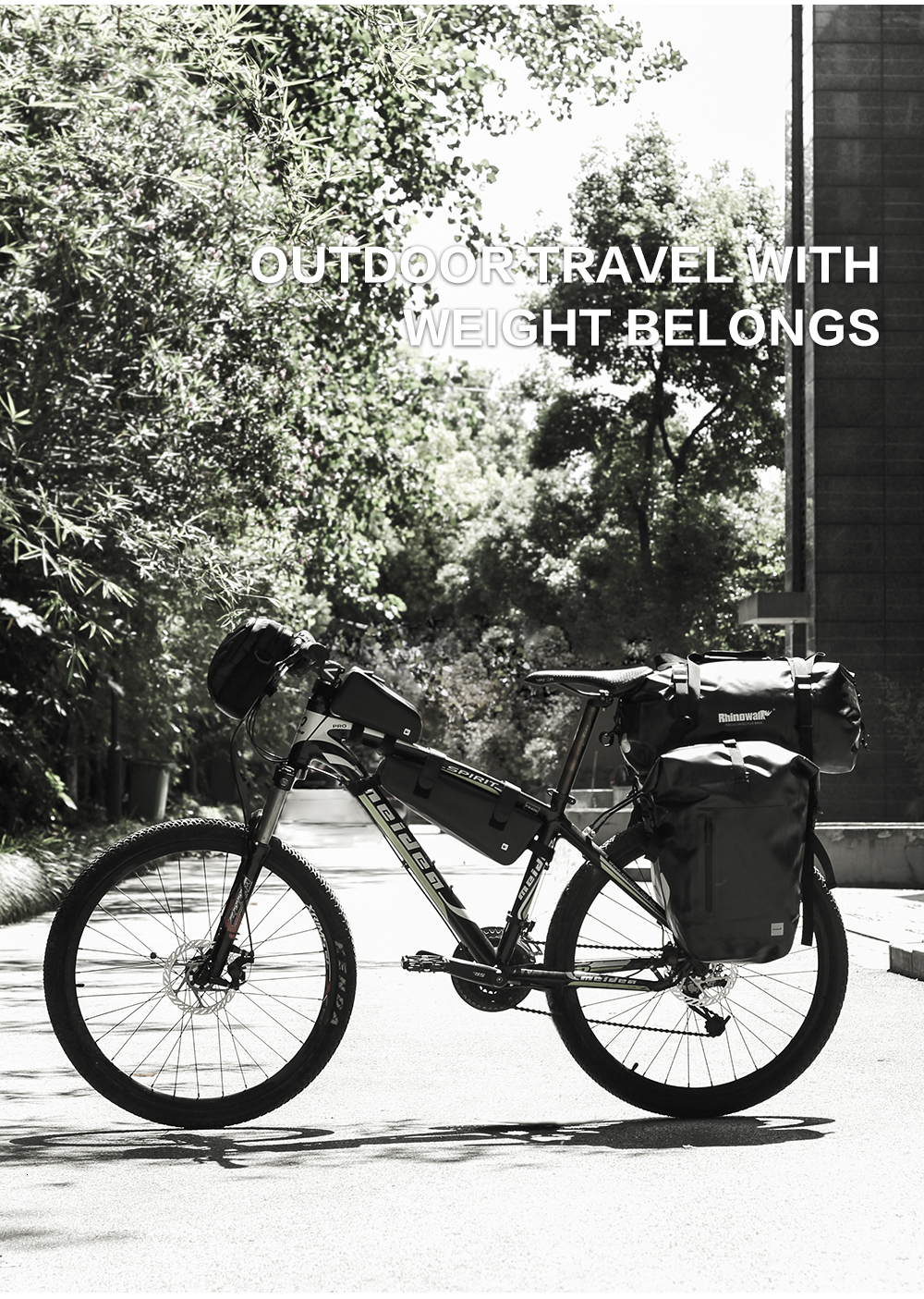 Rhinowalk Bicycle Luggage Bags 20L Full Waterproof for Road Bike Rear Rack Trunk Cycling Saddle Storage Pannier Multi Travel Bag (4)