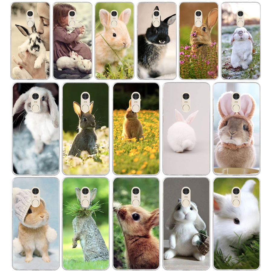 380FG <font><b>Rabbit</b></font> Soft Silicone Tpu Cover phone Case for <font><b>xiaomi</b></font> <font><b>redmi</b></font> note 4A 4X <font><b>6</b></font> Pro 6A image