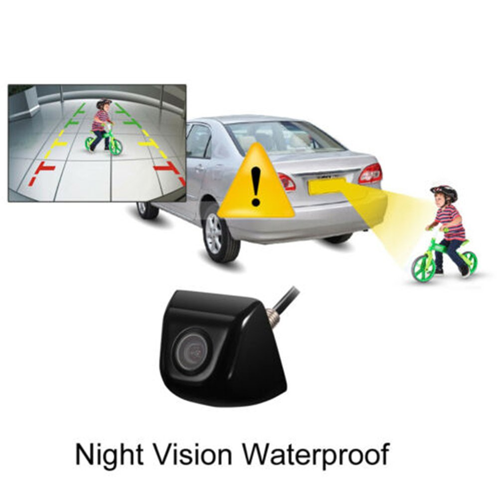 170 Degree Hd Car Camera Car Rear View Reverse Back Up Camera Waterproof Night Vision Display Camera