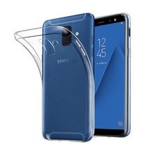 Coque transparente Ultra mince pour Samsung Galaxy A6 A6Plus A6S 2018 Coque arrière en Silicone Transparent Fundas Galaxy ya6 Plus Coque