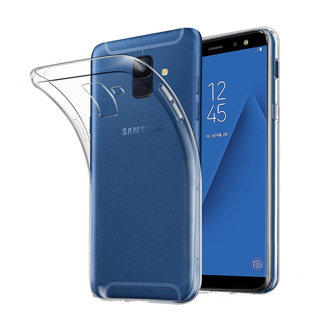 Ultra Thin Transparent TPU for Samsung Galaxy A6 A6Plus A6S 2018 Phone Case Back Cover Clear Silicone Fundas GalaxyA6 Plus Coque