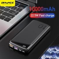 AWEI P103K 22.5W Power bank 10000mAh Mini PowerBank a ricarica rapida Display a Led telefono a ricarica rapida batteria esterna USB di tipo C