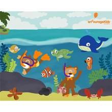 Картина по номерам на холсте подводного мира ручная роспись