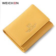 WEICHEN New Many Departments Women Wallets Trifold Zipper Coin Purses Card Holder Ladies Purse Female Wallet Small Carteras ocardian new fashion candy color women short wallet female change purse coin purses card holder carteras girls portable wallets