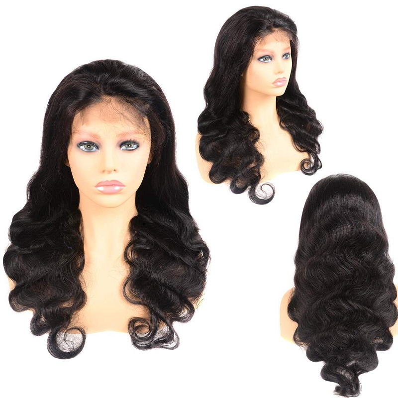 Glueless Full Lace Wig Pre Plucked Body Wave Human Hair Wigs 150-250 Density Brazilian Remy Wave Wig Full End High Quality Hair