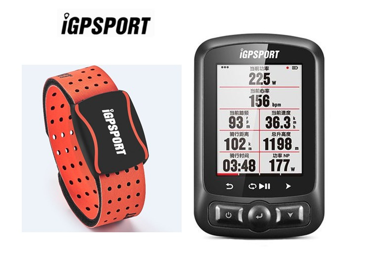 Image 3 - HR60 with IGPSPORT IGS 618 Bike Computer GPS Bluetooth ANT+Bicycle Computer   -