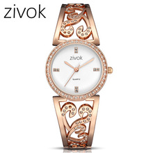 Womens Wrist Watch 2019 Luxury Brand ZIVOK Ladies Quartz Full Stainless Steel Female Clock watches