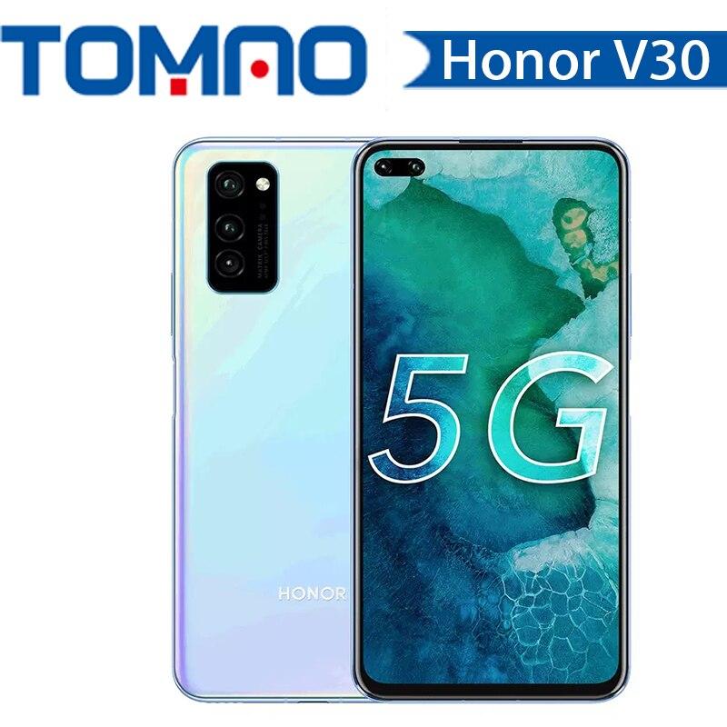 Original Neue Ehre V30 5G Smartphone 6G 8G RAM 128G ROM Octa Core Kirin 990 40mp triple Kamera 40W Aufzurüsten Android 10 NFC