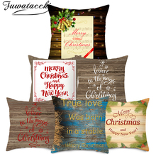 Fuwatacchi Christmas Pattern Pillow Cover Tree Throw Pillows for Couch Pillowcase Polyester Home Sofa Chair Decorative Pillow christmas tree printed decorative thick throw pillowcase