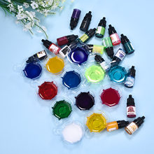 24 Colors 5ml/Bottle Oily Color Resin Pigment Crystal Epoxy Resin Candle Transparent Pigment Dye Colorant For DIY Jewelry Making