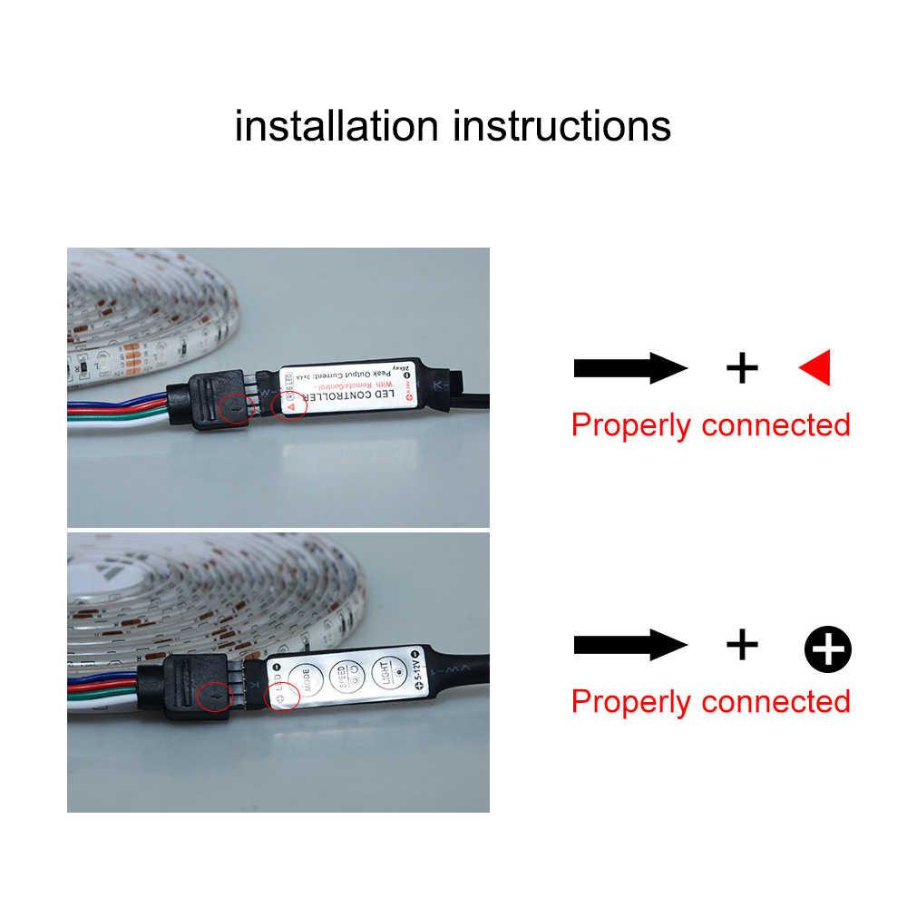 Водонепроницаемая Диодная RGB Светодиодная лента 2835 SMD 0,5 M-5 M 5V Светодиодная лента USB гибкий светодиодный свет для ПК ТВ экран тыловая подсветка