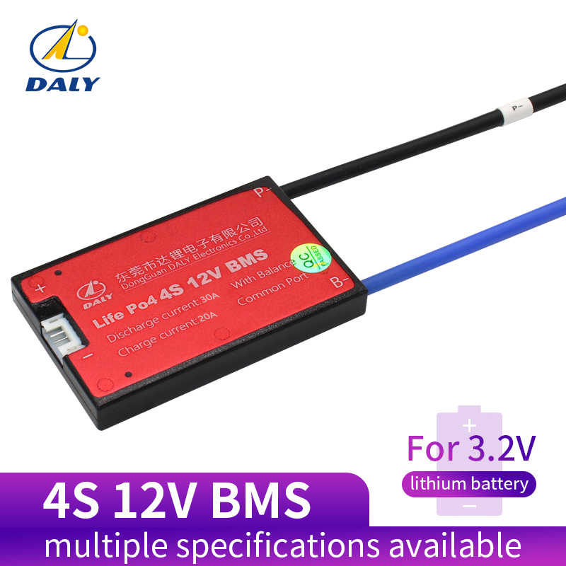 Daly 18650 BMS 4S 12V 15A 20A 30A 40A 50A 60A Waterproof BMS For Rechargeable Lifepo4 Battery With Same Port for lithium battery