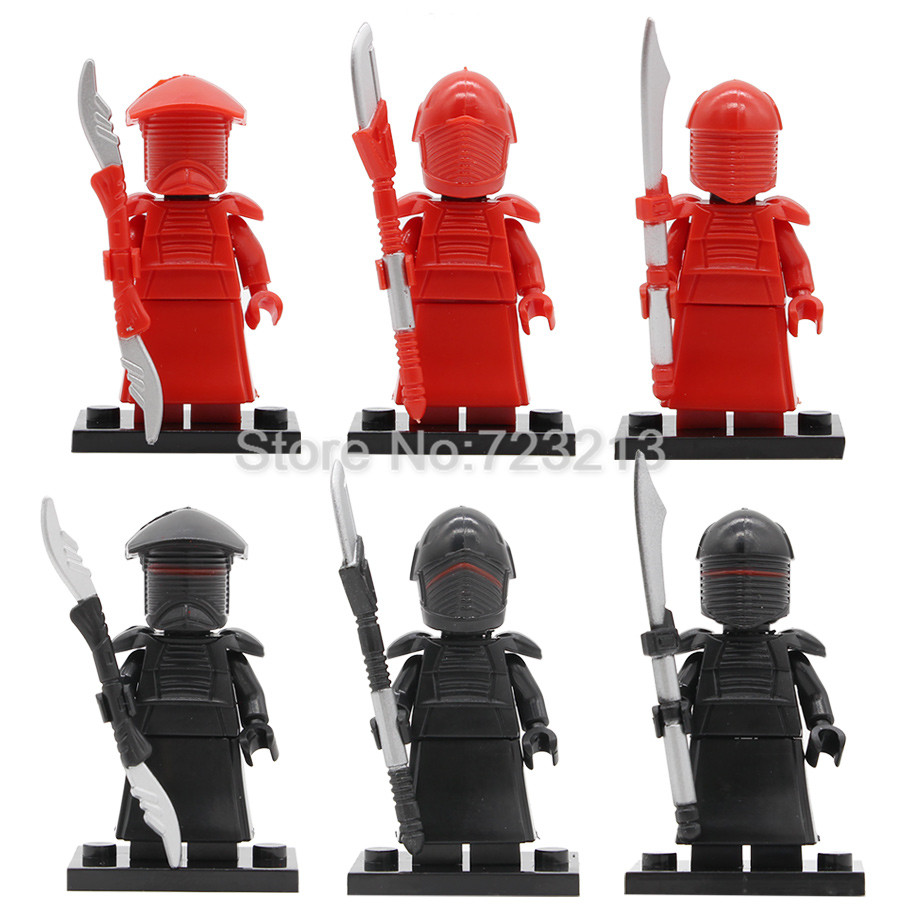 Single Sale Star Wars Red Guard Figure Redrobes Building Blocks Sets Models Bricks Toys For Children Gifts Legoing